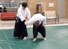 Alan Sensei demonstrates ikkyo technique.