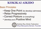 The Four Principles of Koikai Aikido
