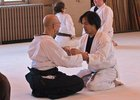 "Rick Sensei practices ""kokyu dosa"" with Alan Sensei when he was still a brown belt."